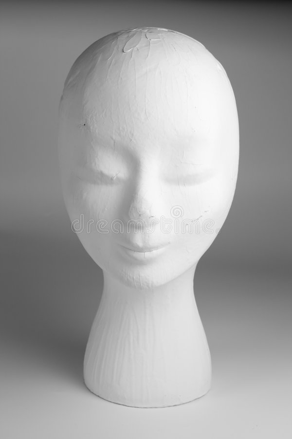 Tête femelle de mannequin images libres de droits