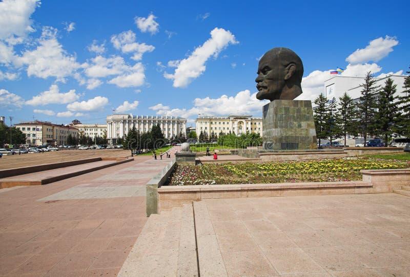 Tête géante de Lénine image stock