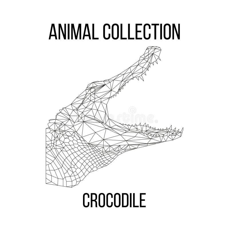 Tête géométrique de crocodile photographie stock libre de droits