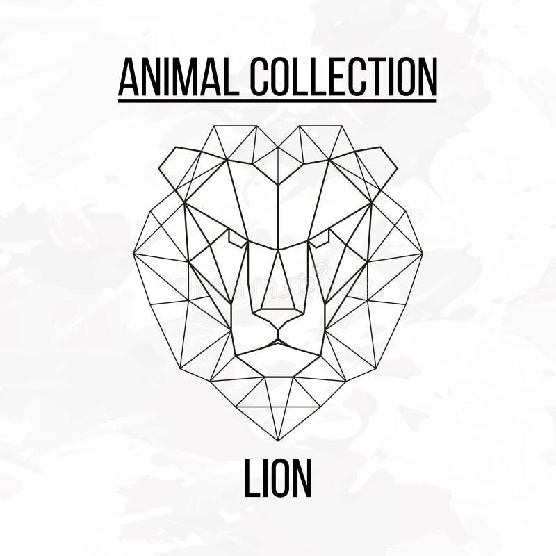 Tête géométrique de lion photographie stock