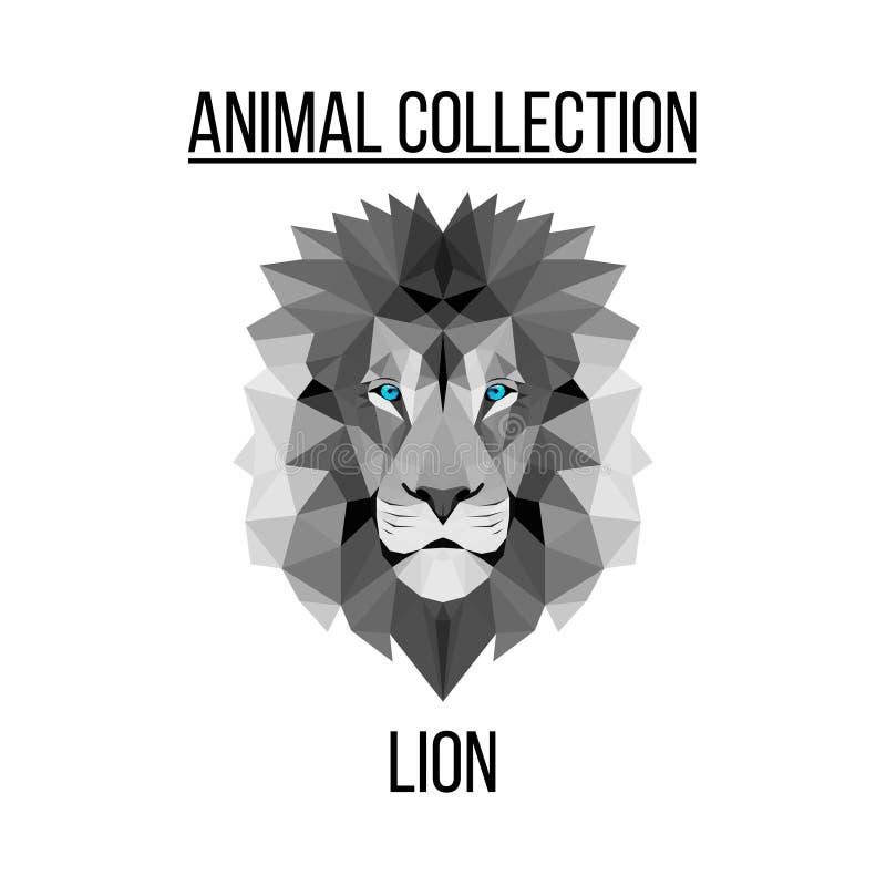 Tête géométrique de lion photos stock