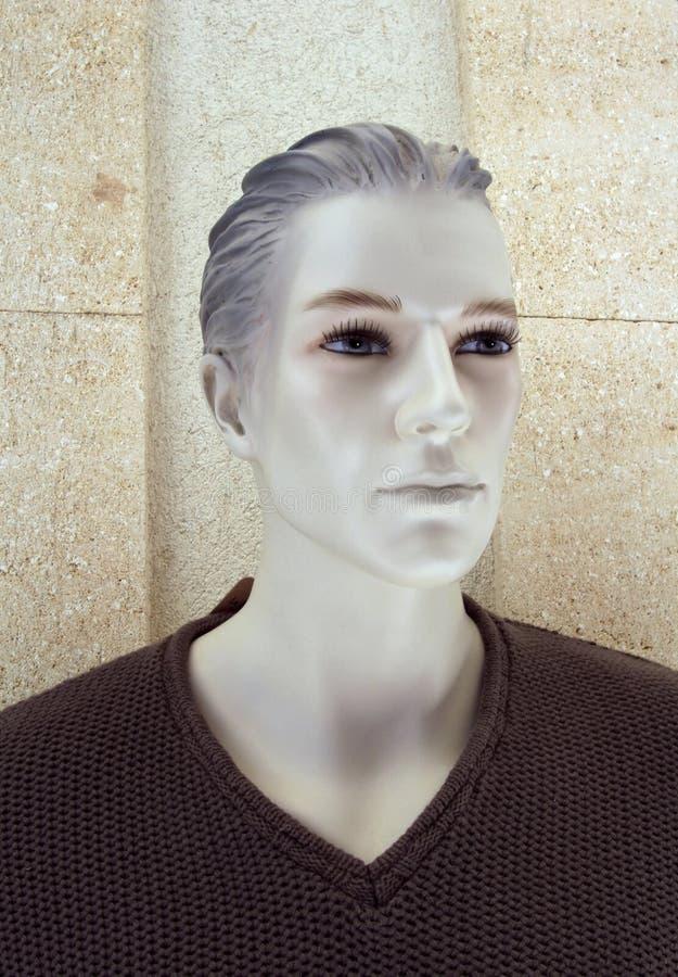 Tête masculine en plastique de mannequin images stock