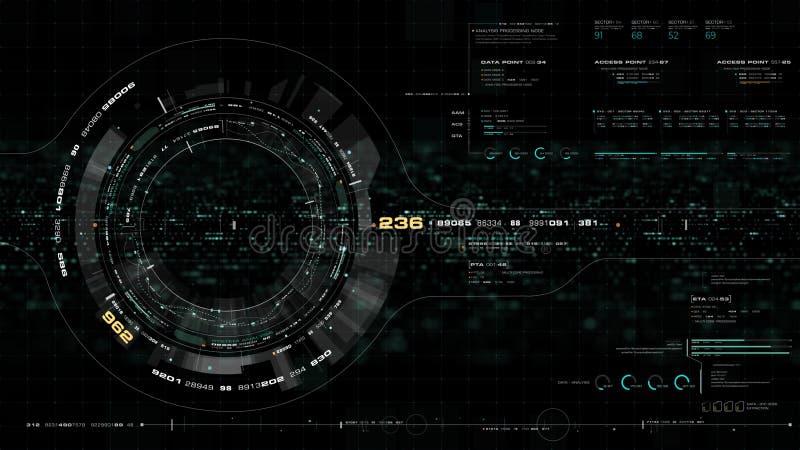 Tête olographe futuriste de la terre vers le haut d'affichage illustration libre de droits