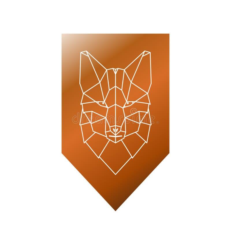 Tête polygonale de Fox illustration libre de droits