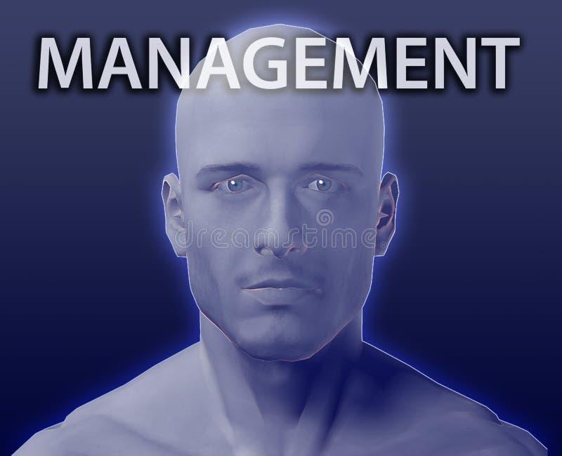 Tête pour le management illustration stock