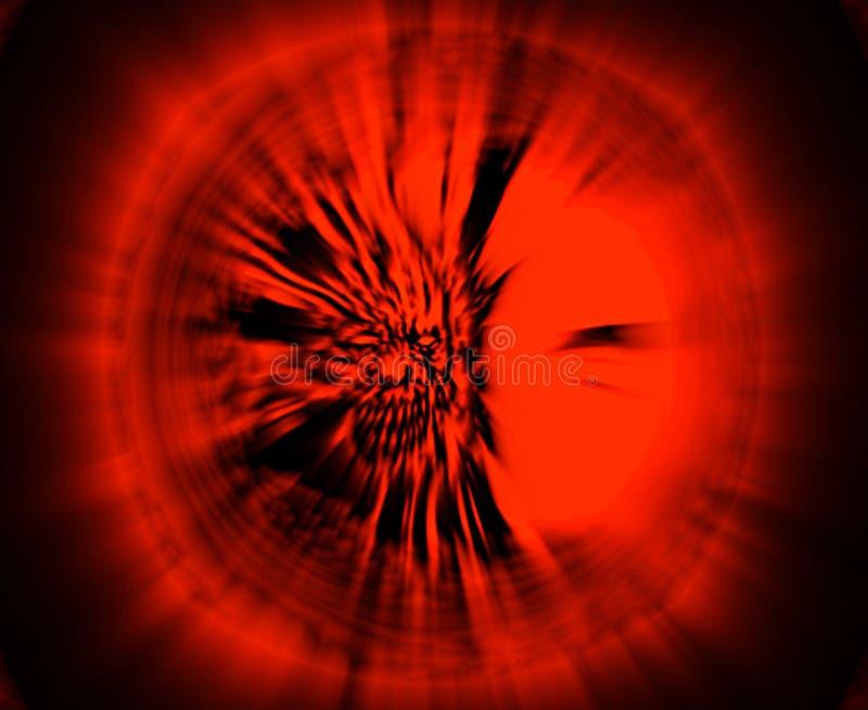 Tête rampante de zombi Illustration dans la couleur rouge illustration de vecteur