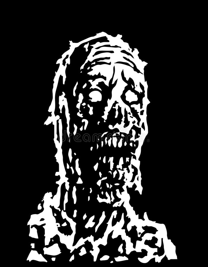 Tête rampante de zombi Illustration de vecteur illustration stock