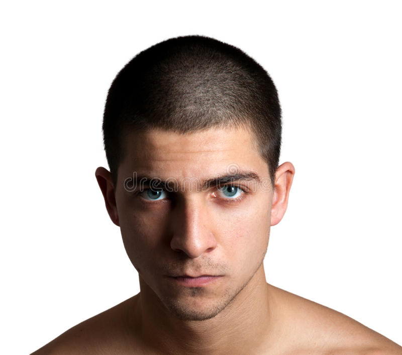 Tête rasée images stock