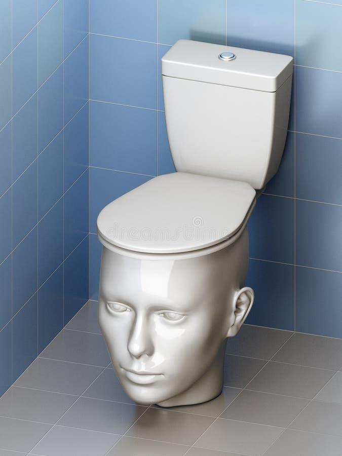 Tête - toilette photo libre de droits