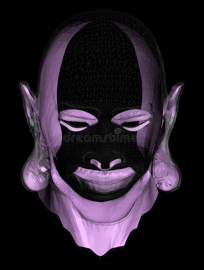 Tête violette illustration de vecteur