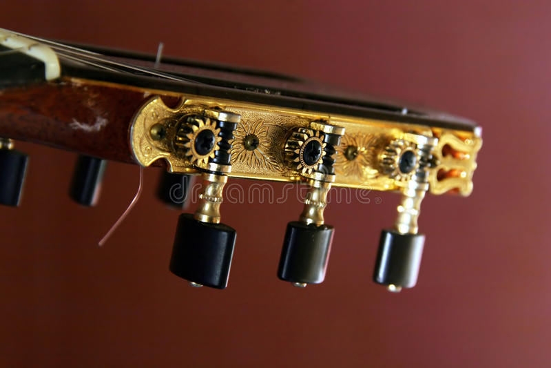 Têtes classiques de machine de guitare photo stock