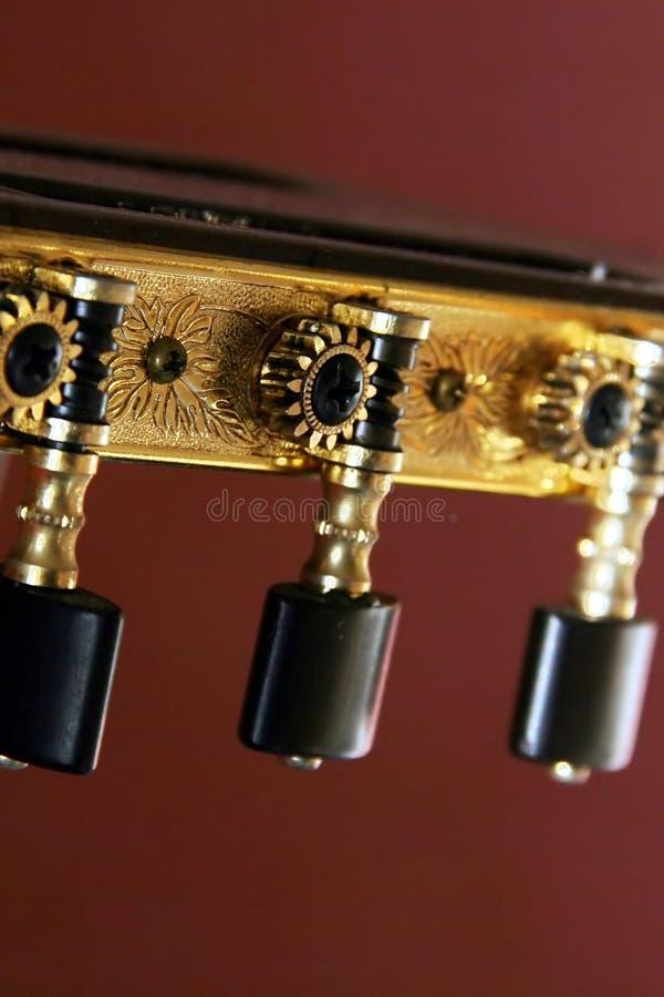 Têtes classiques de machine de guitare images libres de droits