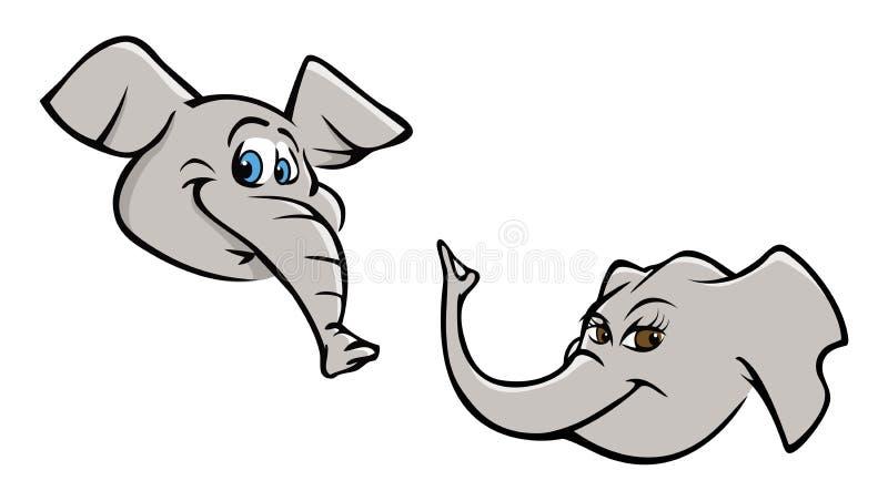 Têtes d'éléphant photographie stock
