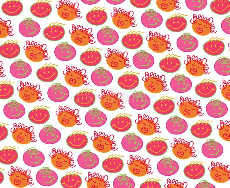 Têtes de Bubblegum de polka illustration libre de droits