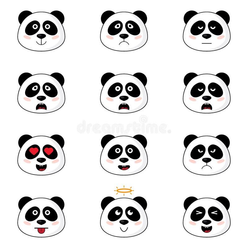 Download Têtes de panda illustration de vecteur. Illustration du caractère - 76081155