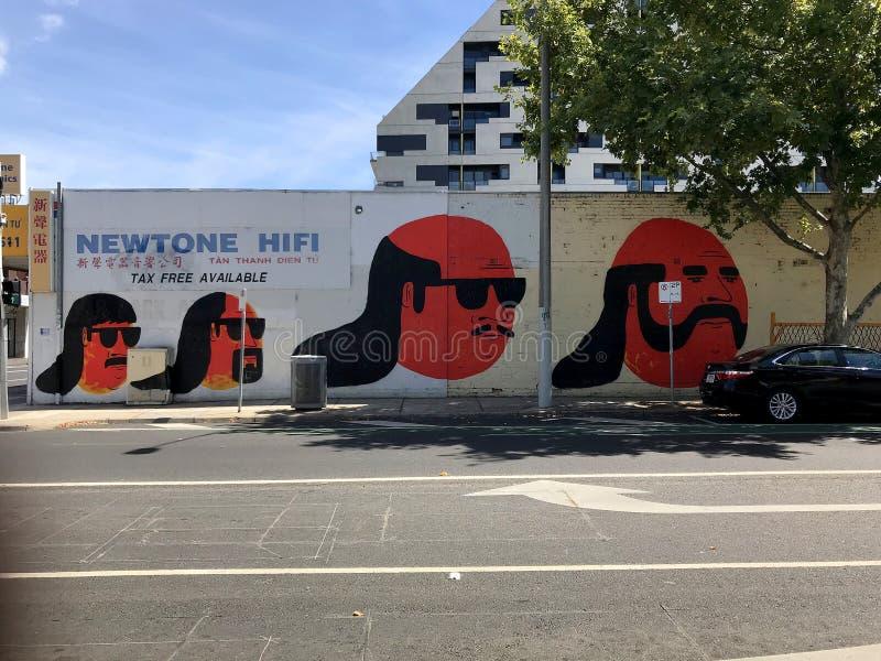 Têtes de Street Art image libre de droits