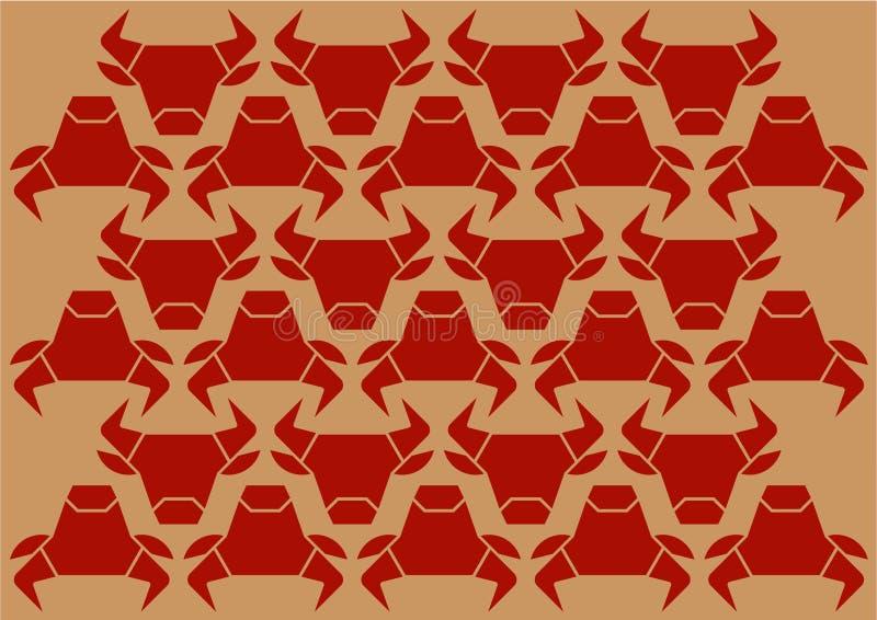 Têtes de Taureau illustration stock