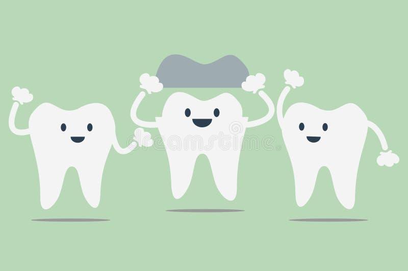 Têtes dentaires illustration de vecteur