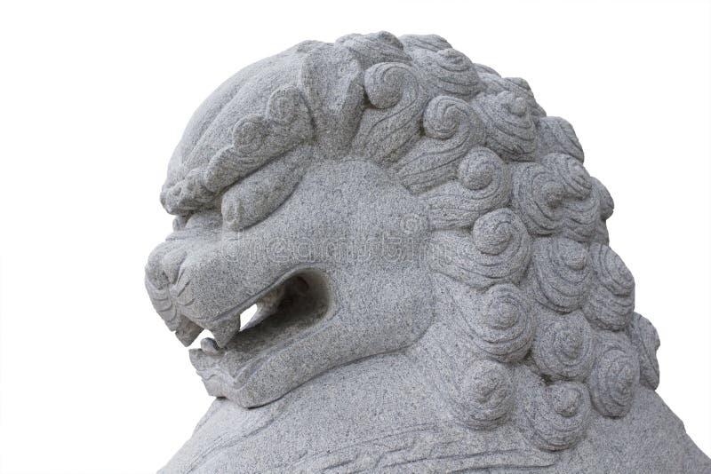 Têtes en pierre de lion. photos stock