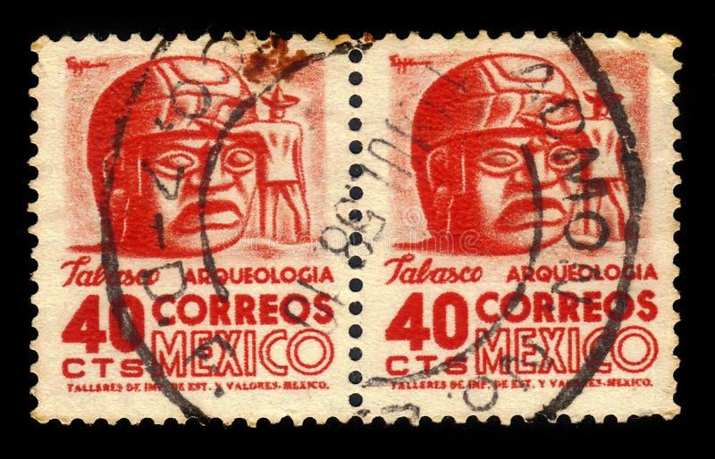Têtes en pierre de Tabasco, Mexique photographie stock libre de droits