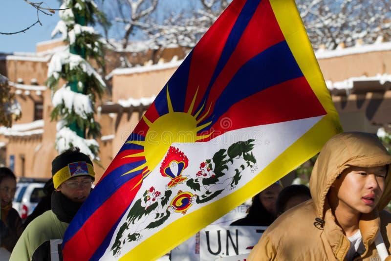 Tíbet libre marzo imagen de archivo