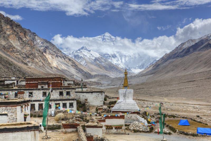 Tíbet: monasterio del rongbuk foto de archivo libre de regalías