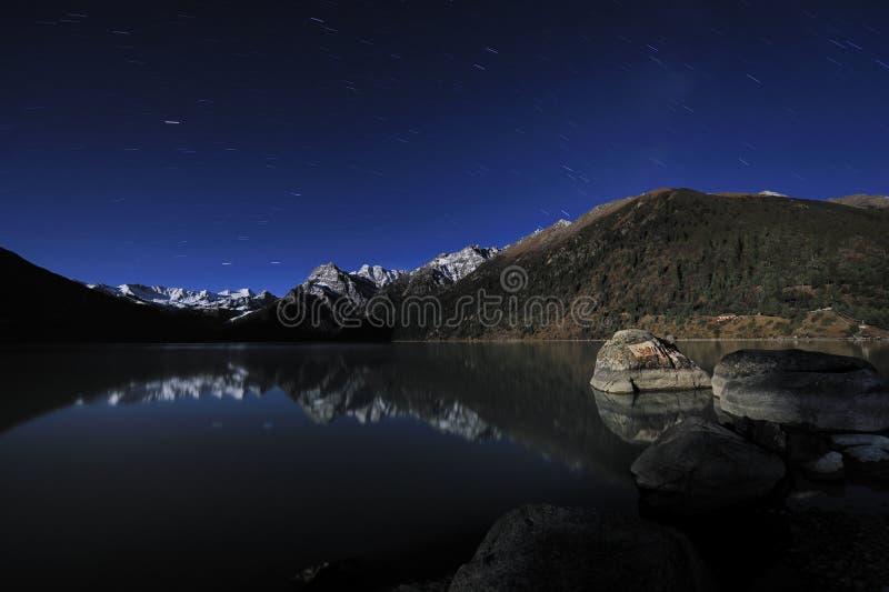 Tíbet - noche de XINLUHAI imagen de archivo libre de regalías