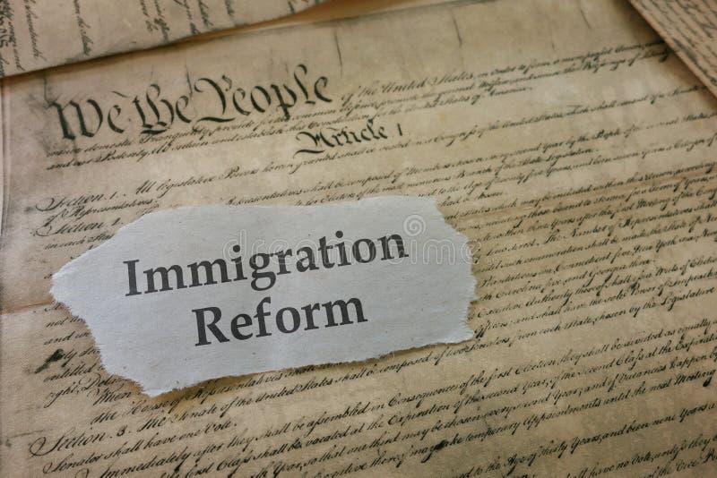 Título da reforma de imigração imagem de stock royalty free