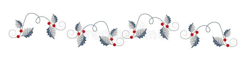 Título da Web do Natal com folhas santamente ilustração royalty free