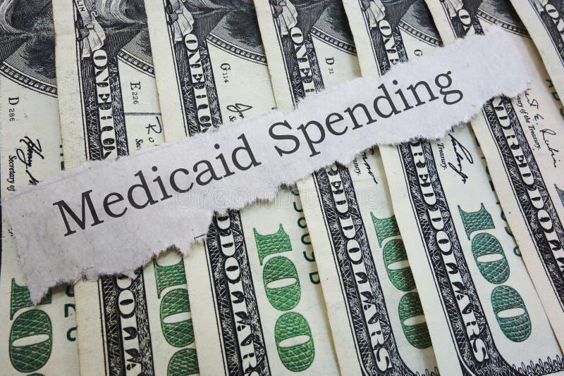 Título de jornal de Medicaid fotos de stock