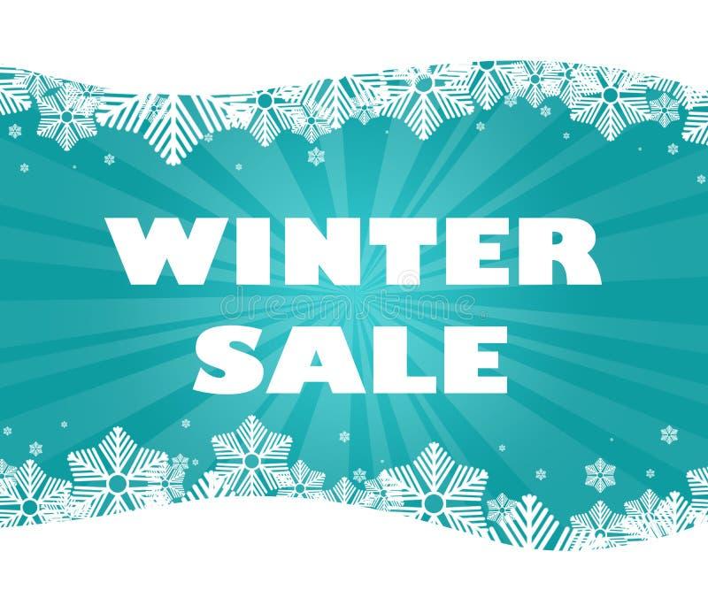 Título de la venta del invierno imagen de archivo libre de regalías
