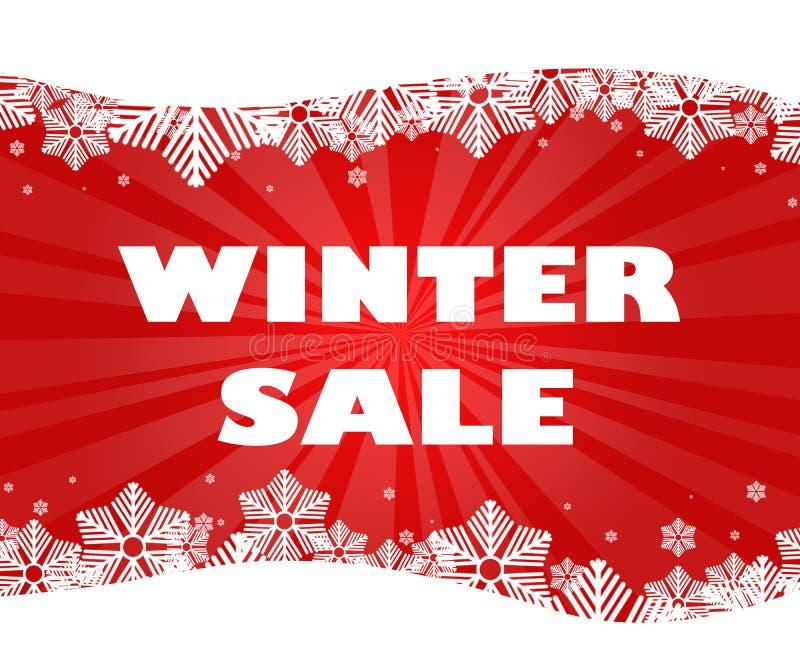 Título de la venta del invierno imagen de archivo