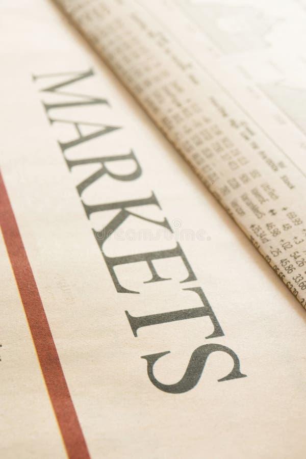 Título de los mercados imagen de archivo