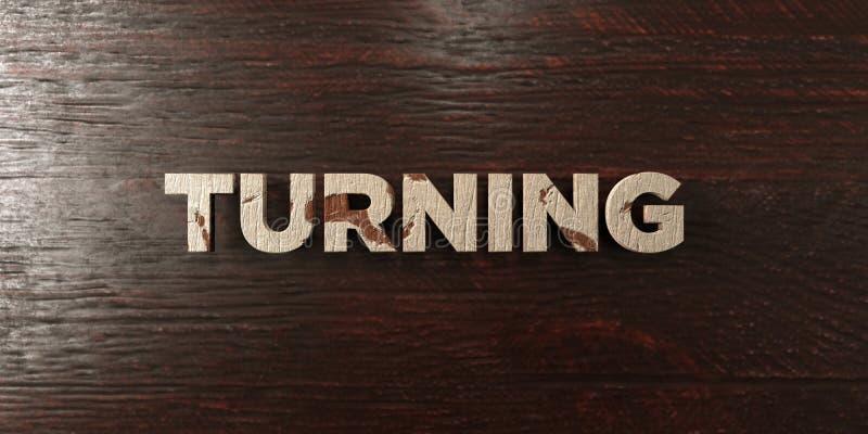 - Título de madeira sujo no bordo - 3D de giro rendeu a imagem conservada em estoque livre dos direitos ilustração do vetor