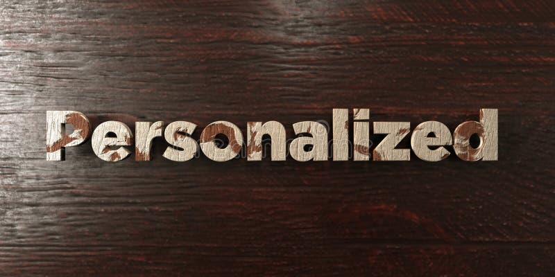 - Título de madeira sujo no bordo - 3D personalizado rendeu a imagem conservada em estoque livre dos direitos ilustração stock