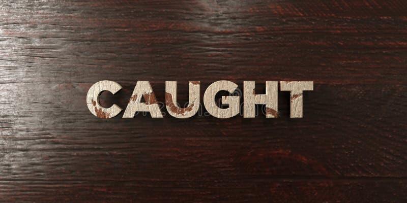 - Título de madera sucio en arce - 3D cogido rindió imagen común libre de los derechos libre illustration