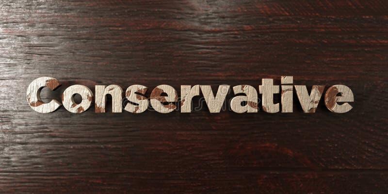 - Título de madera sucio en arce - 3D conservador rindió imagen común libre de los derechos libre illustration