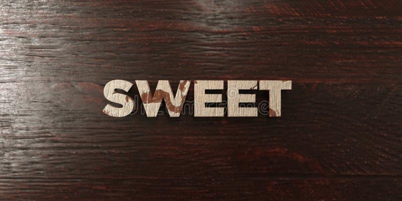 - Título de madera sucio en arce - 3D dulce rindió imagen común libre de los derechos ilustración del vector