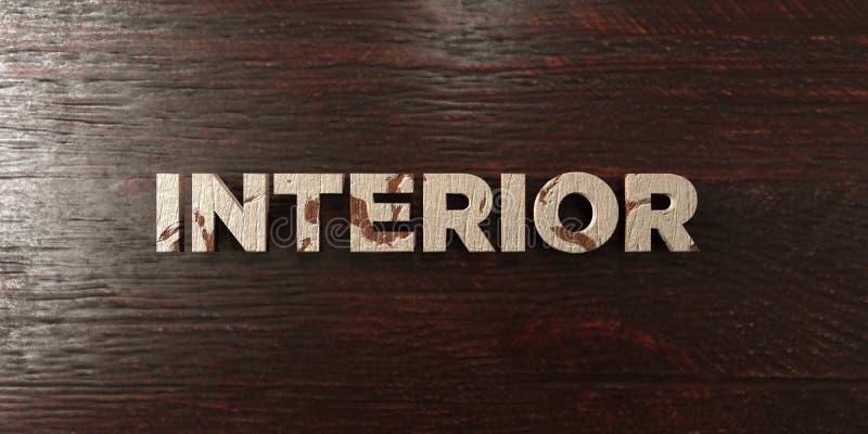 - Título de madera sucio en arce - 3D interior rindió imagen común libre de los derechos ilustración del vector