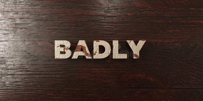 - Título de madera sucio en arce - 3D rindió gravemente imagen común libre de los derechos ilustración del vector