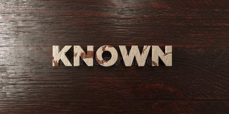 - Título de madera sucio en arce - 3D sabido rindió imagen común libre de los derechos stock de ilustración