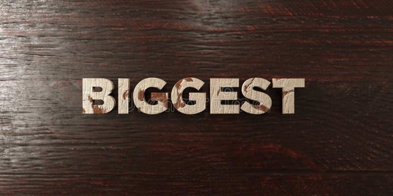 - Título de madera sucio en arce - el 3D más grande rindió imagen común libre de los derechos libre illustration