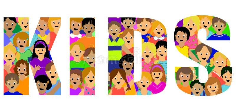 Título do grupo dos miúdos ilustração royalty free