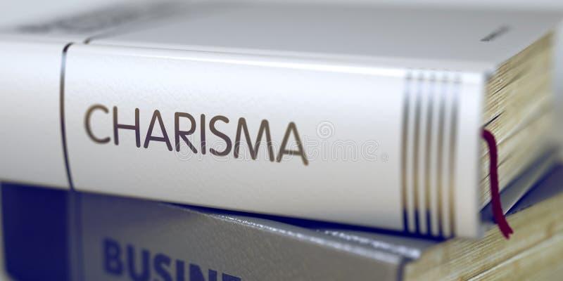 Título do livro do carisma 3d foto de stock