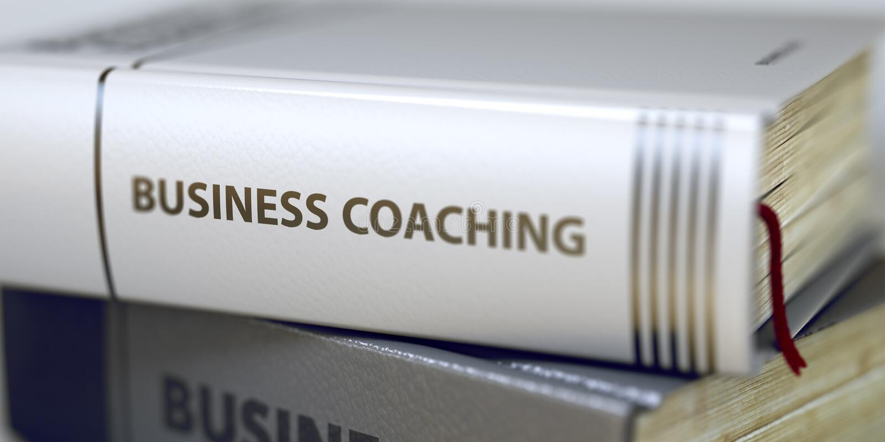 Título en la espina dorsal - el entrenar del libro del negocio 3d fotos de archivo libres de regalías