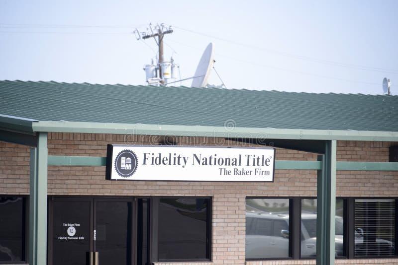 Título nacional de Fidelity, Fort Worth, Tejas imagen de archivo