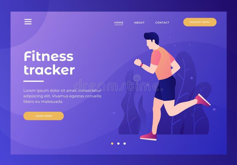 Título para el sitio web homepage Un hombre joven está corriendo en ropa de deportes libre illustration