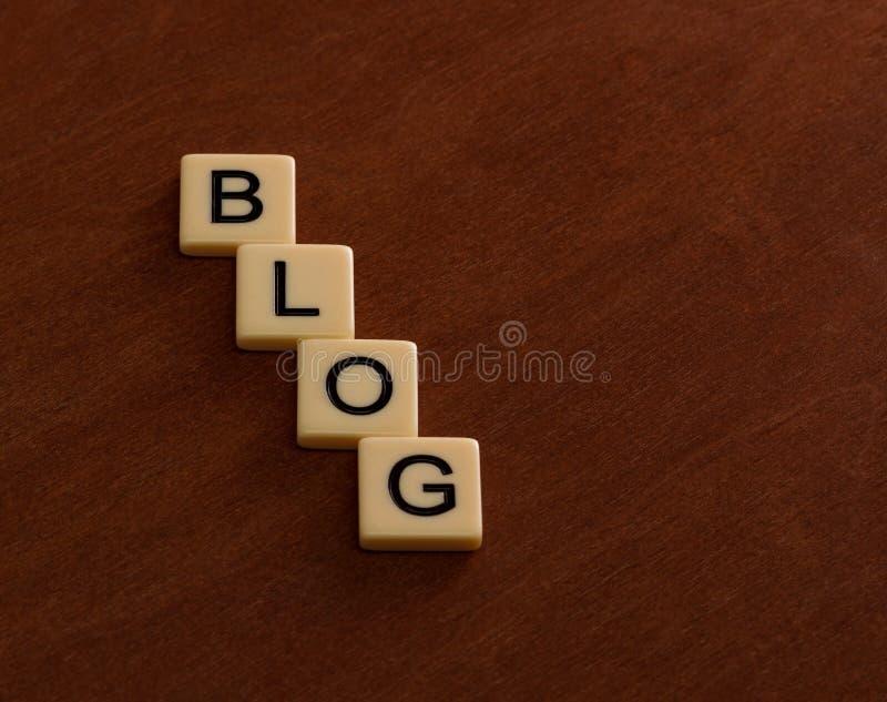 Título personal del blog Concepto social del establecimiento de una red fotografía de archivo