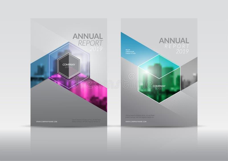 Título: Plantilla del diseño del aviador del folleto de la cubierta del informe anual ilustración del vector