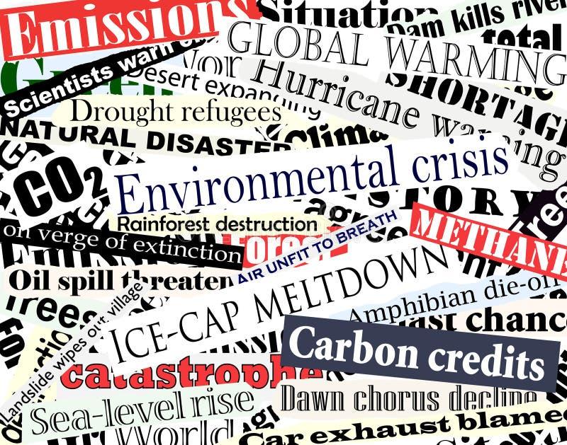 Títulos ambientales ilustración del vector
